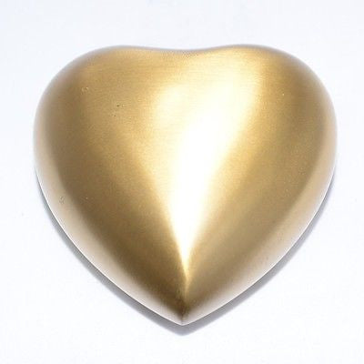 Gold Heart Keepsake Cremation Urn