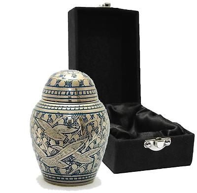 Doves in Flight (Dome lid) Keepsake Cremation Urn inc velvet box