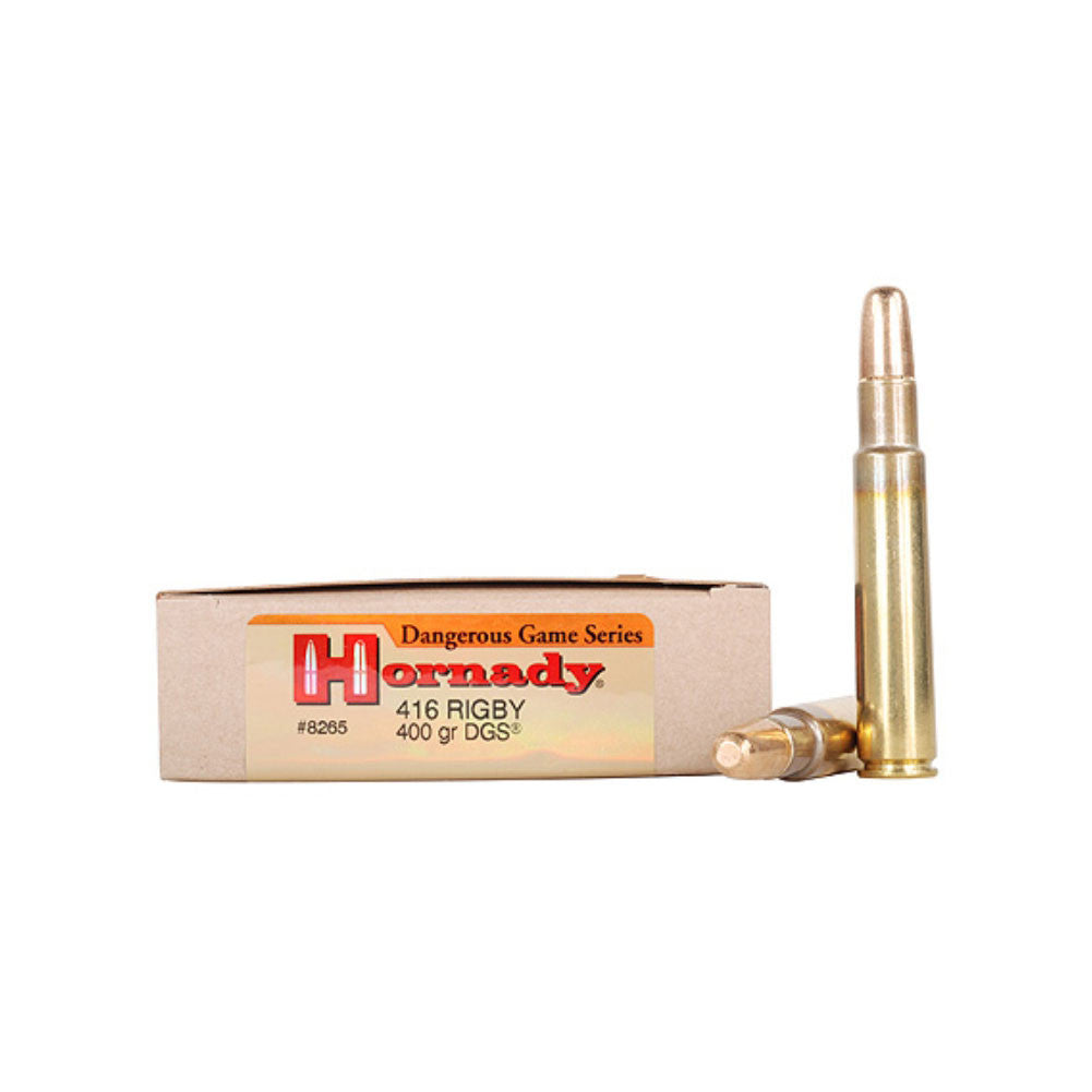 HORNADY Dangerous Game 416 Rigby 400 Grain DGS Ammo, 20 Round Box (8265)