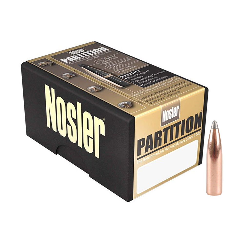 NOSLER Partition Spitzer 7mm  284 160gr Ammo 50 Per Box (16327)