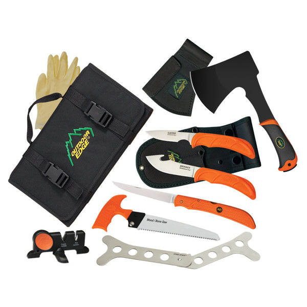 OUTDOOR EDGE The Outfitter 7-Piece Rollpack Hunting Tool Set (OF1)