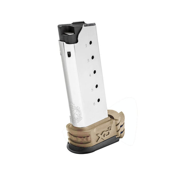SPRINGFIELD ARMORY XD-S .45 ACP 6rd Magazine with Flat Dark Earth Sleeves (XDS5006DE)