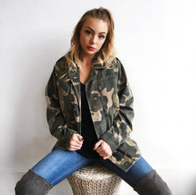 Military Camo Jacket in Olive