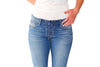 Lace Up Skinny Jean in Light Wash - Shopatflirt  - 2