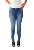 Lace Up Skinny Jean in Light Wash - Shopatflirt  - 1