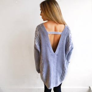 Baby Got Back Cable Knit Sweater