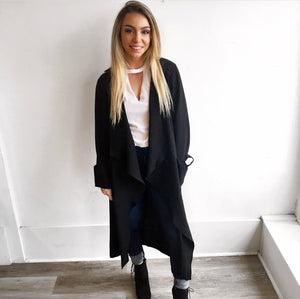 Long Blazer Jacket in Black