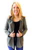 Quilted military Inspired Jacket in Dusty Olive - Shopatflirt  - 1