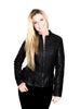 Ripple Vegan Leather Jacket in Black Chocolate - Shopatflirt  - 1