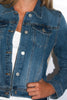 Denim Jacket in Sanded Denim - Shopatflirt  - 3