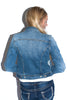 Denim Jacket in Sanded Denim - Shopatflirt  - 2