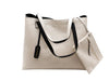 Reversible Tote in Black/Ivory - Shopatflirt  - 3
