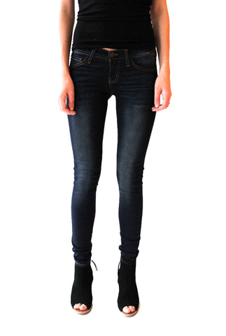 Skinny Denim Jean in Dark Wash - Shopatflirt  - 1