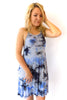 Tie Dye Dress in Royal and Sky Blue - Shopatflirt  - 1
