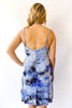 Tie Dye Dress in Royal and Sky Blue - Shopatflirt  - 2