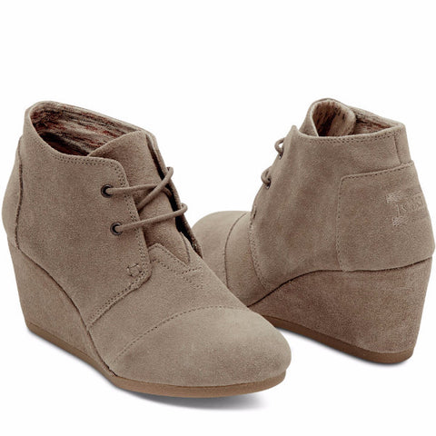 Desert Wedge Bootie in Taupe