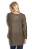 Keep it Simple Sweater in Olive - Shopatflirt  - 2