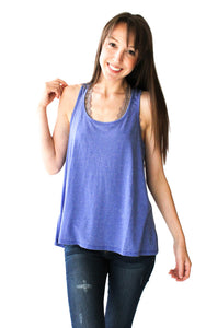 Vintage Tank in French Lavender - Shopatflirt  - 1