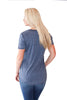 Vintage Washed Pocket Tee in Blue Iris - Shopatflirt  - 2