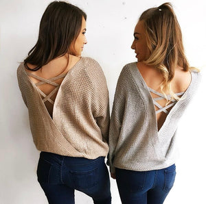 Cross Back Sweater