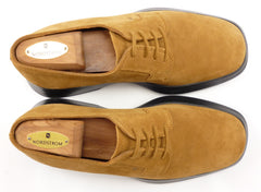 Tod's sz 7 Suede Plain Toe Oxfords Mens Light Brown fits US 8