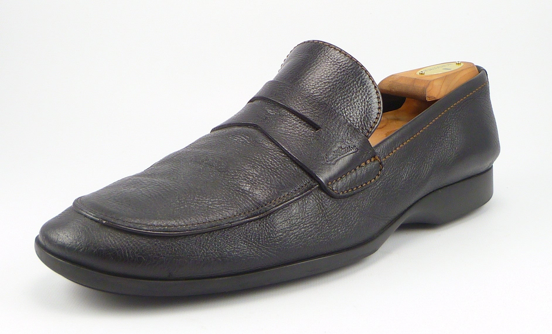 6c4107739ad2 Louis Vuitton Mens Shoes 11 US Leather Loafer Black – Distinctive ...