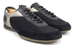 Prada Men's Shoes 7, 8 US Nylon Mesh & Leather Sneakers Black