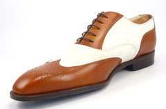 New - SUTOR MANTELLASSI sz 11 WINGTIP OXFORD MENS BROWN / WHITE fits US 11 $1200