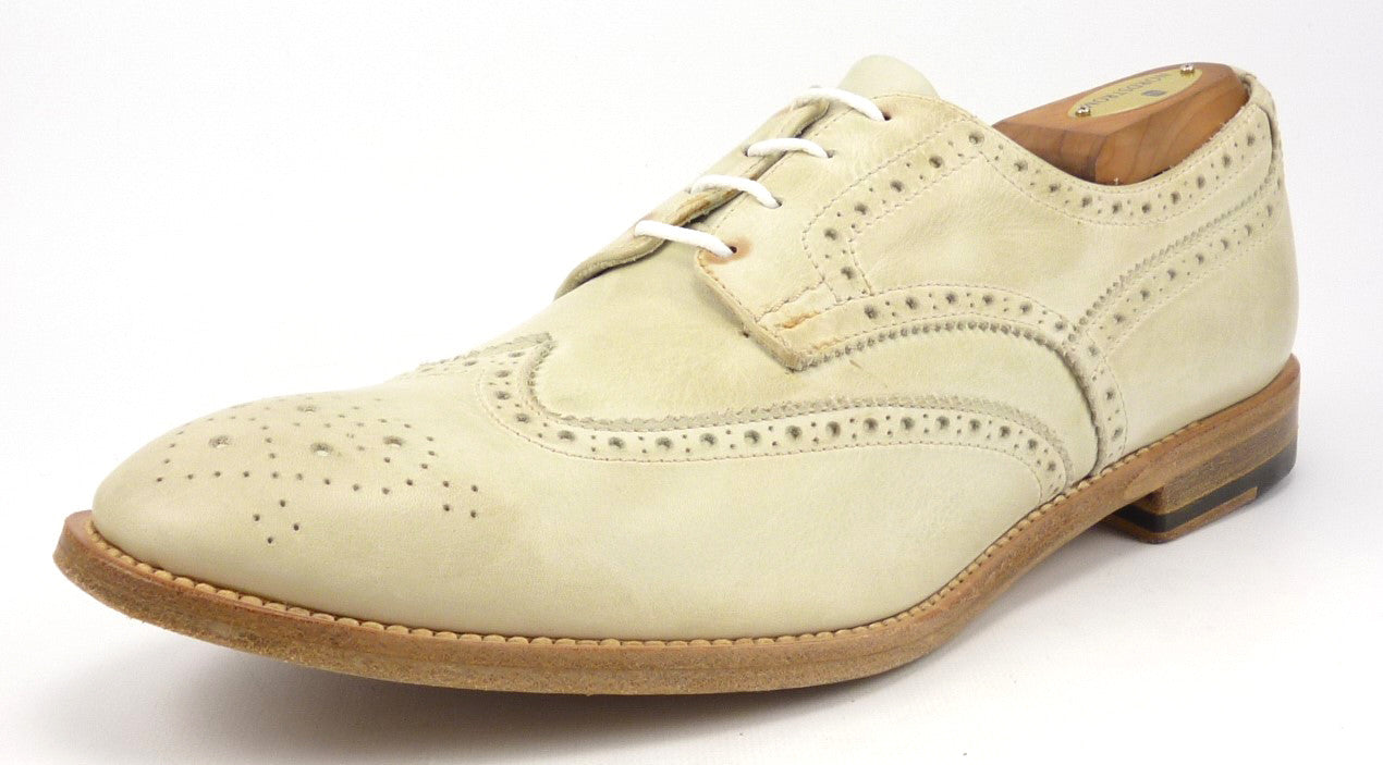 Paul Smith sz 8.5 Leather Wingtip Derby Oxfords 082 Mens Taupe fits US 10