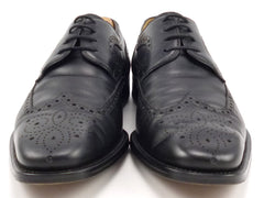 MAGNANNI sz 10.5 LEATHER WINGTIP OXFORD 12673 MENS BLACK fits US 10.5