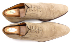 Magnanni Men's Shoes 11.5 US Espla Suede Wingtip Lace Up Oxfords Tan