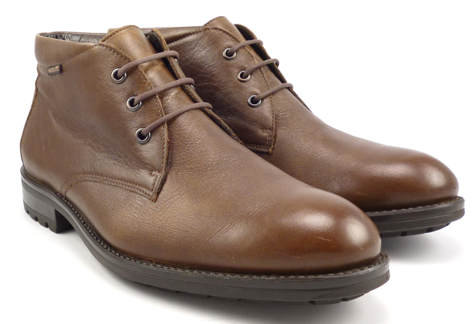 41c0cb0f4c9b Mephisto Men s Shoes 8 Isacio Leather Ankle Boots Brown ...
