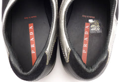 Prada Men's Shoes 11, 12 US Suede & Mesh Sneakers 4E1020 Black