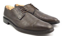 Lanvin sz 8 Leather Plain Toe Oxfords FCDECPO Mens Dark Brown fits US 10