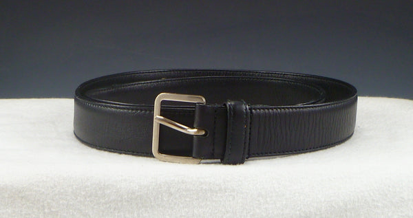 Miu Miu Men's Belt 38 Textured Leather Strap 6C2898 Black
