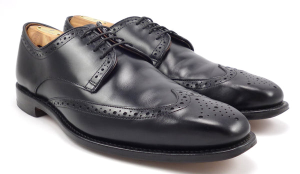 Allen Edmonds Men's Shoes 9.5 Bel Air Leather Wingtip Lace Up Oxfords Black