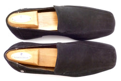 Louis Vuitton Men's Shoes 7, 8 US Suede Bicycle Toe Slip On Loafers Black
