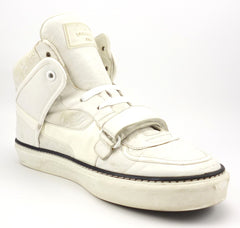 Louis Vuitton Mens Shoes 8, 9 US Tower Monogram Leather Sneakers White