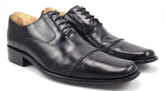 Balenciaga Men's Shoes 43, 10 US Leather Cap Toe Lace Up Oxfords Black