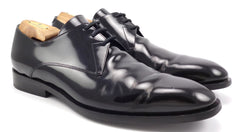Balenciaga Men's Shoes 45, 12 US Leather Plain Toe Lace Up Oxfords Black
