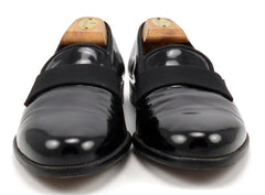 Salvatore Ferragamo Men's Shoes 7 US Notte Patent Leather Tuxedo Loafers Black