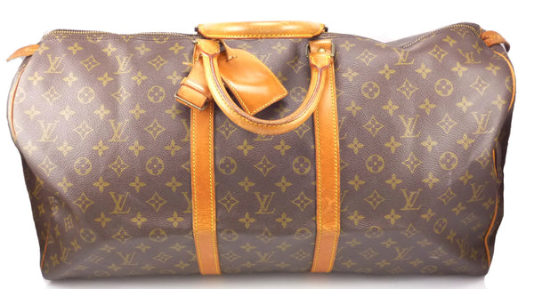Louis Vuitton Authentic Monogram Keepall 55 Travel Bag