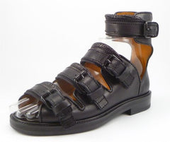 Givenchy New Men's Shoes 39, 6 US Leather Runway Strap Sandals Black