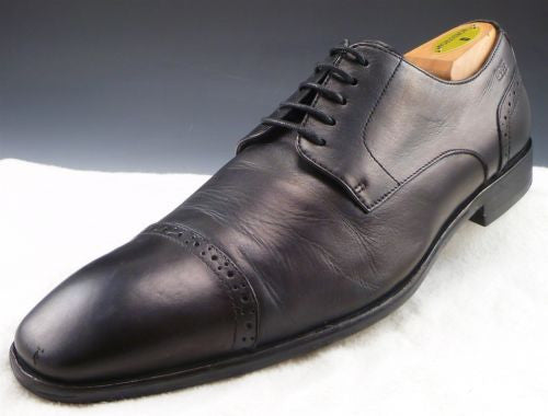 HUGO BOSS sz 9.5 METOST CAP TOE OXFORDS 50229848 MENS BLACK fits US 10 $225