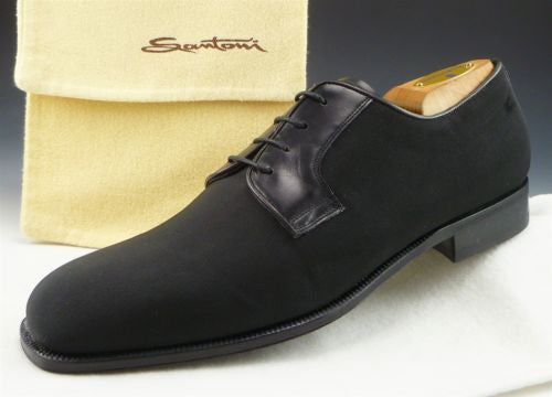 Santoni sz 9.5 Earl II Gregorian Oxfords 861196 Mens Black fits US 9.5 New