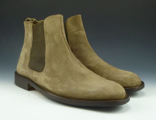 Bruno Magli Men's Shoes 8, 9 US Kent Suede Pull On Ankle Boots Brown Pre-owned