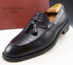 Mezlan Men's Tassel Loafers Size 9 US Black