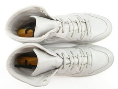 Balenciaga Men's Shoes 46, 13 US Leather High Top Sneakers White