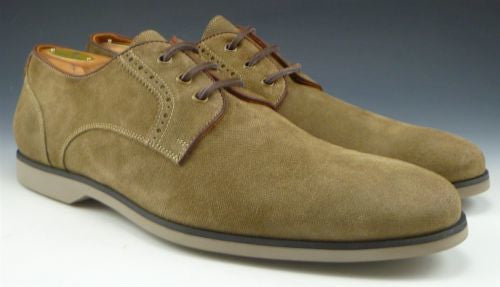 John Varvatos Men's Shoes 11.5 US Monaco Suede Lace Up Oxfords Brown