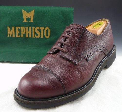 MEPHISTO sz EU 8/US 8.5 MELCHIOR CAP TOE OXFORDS MENS BORDEAUX fits US 8.5 $415